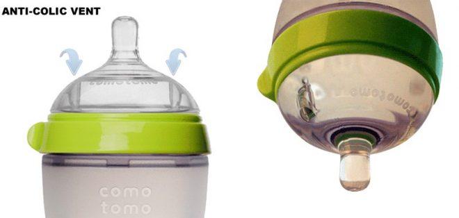 2 lỗ thông khí bình sữa chống sặc Comotomo