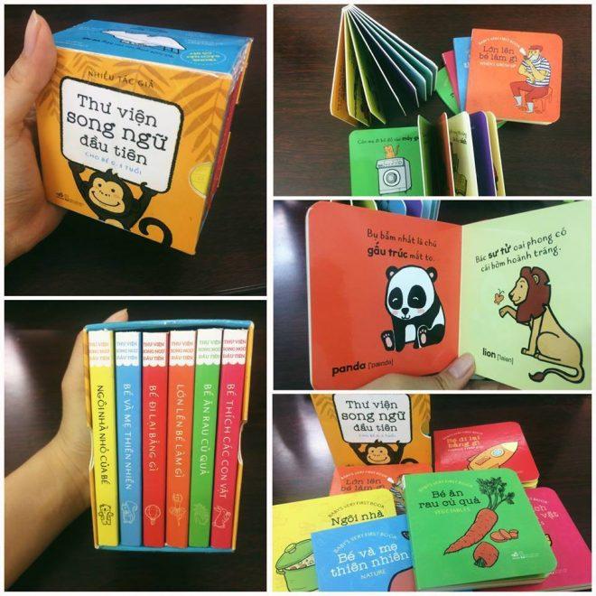 Bộ 6 cuốn Sách Thư viện song ngữ đầu tiên cho bé