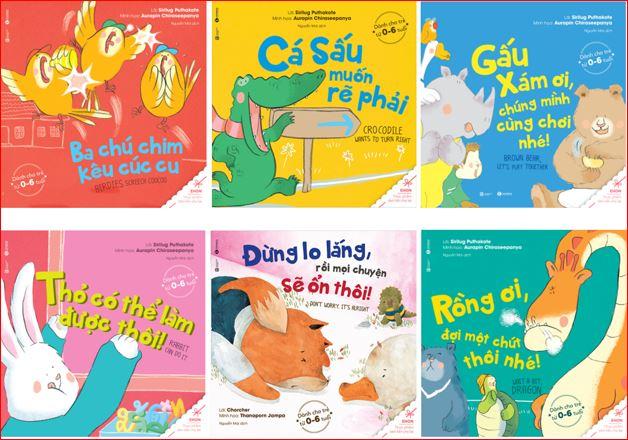 Bộ 6 cuốn Sách truyện cho bé Ehon Song Ngữ