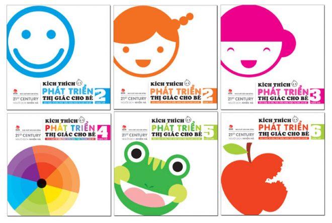Bộ 6 cuốn sách kích thích phát triển thị giác cho bé 0 3 tuổi