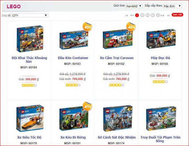 Chủ đề đồ chơi Lego City phù hợp với bé trai