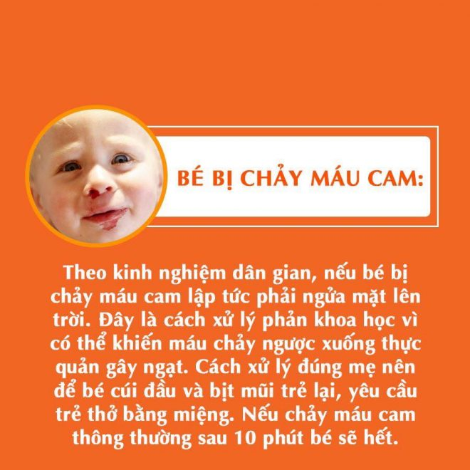 Giúp cầm máu cho bé chảy máu cam