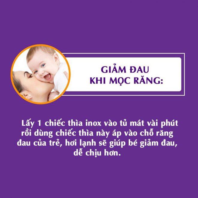 Giúp giảm đau cho bé khi mọc răng