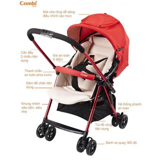 Xe đẩy cho trẻ sơ sinh Combi