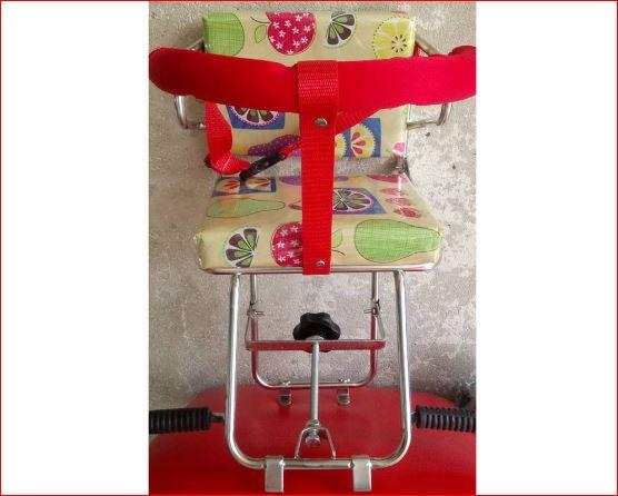 Ghế ngồi xe máy inox có lưng tựa cho bé Xe số bán chạy nhất
