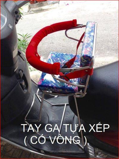 Ghế ngồi xe máy inox cho bé Xe tay ga