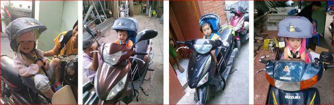 Ghế ngồi xe máy vẫn là giải pháp tốt nhất cho bé đi xe máy