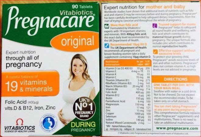 Pregnacare Breastfeeding cho bổ sung dưỡng chất sữa cho bà bầu