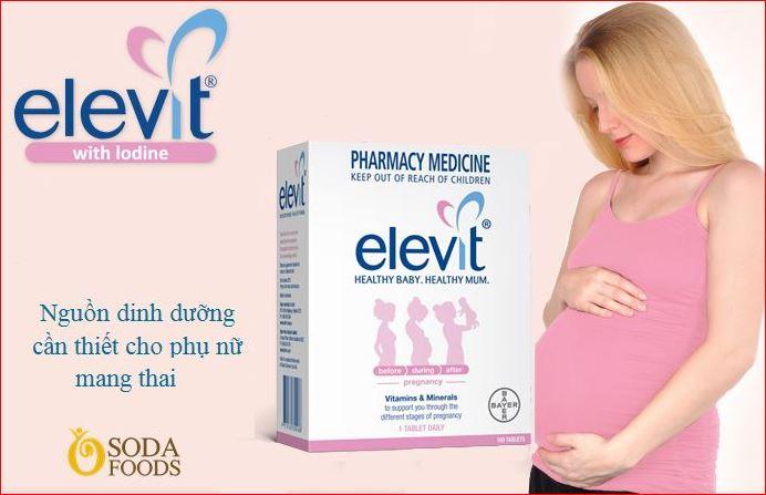 Thuốc Elevit cho bà bầu đang được nhiều mẹ bầu dùng nhất