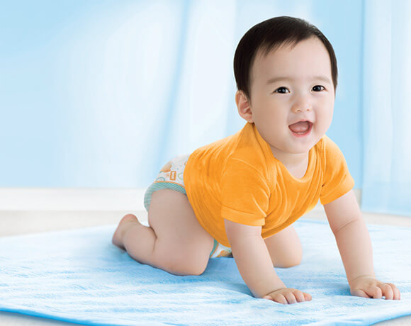bỉm huggies được nhiều bà mẹ tin dùng cho bé