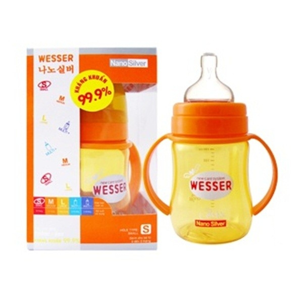 binh sua co rong wesser 180ml