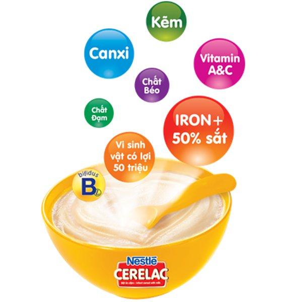 Bột ăn dặm Nestle mang đến cho bé nhiều dưỡng chất thiết yếu