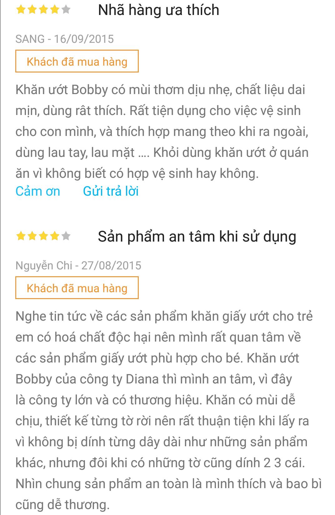 Khác hàng đánh giá sản phẩm trên Tiki