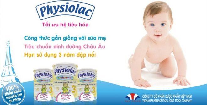 Sữa Physiolac giúp hỗ trợ phát triển cho bé