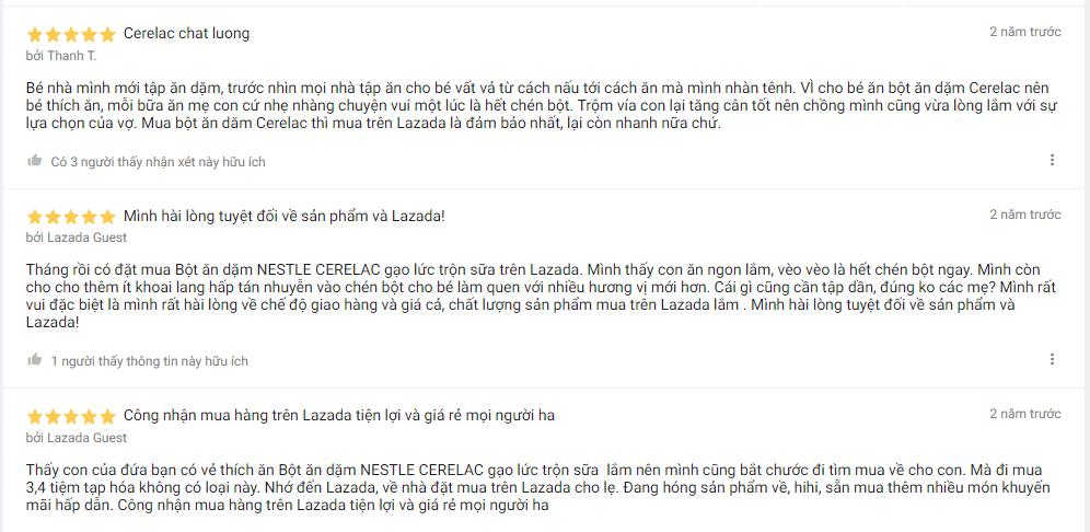 Tâm sự của mẹ Việt trên Lazada sau khi dùng bột ăn dặm Nestle cho con