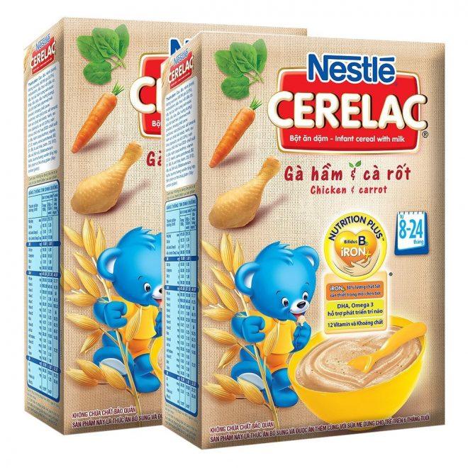 Khi bé 8 tháng tuổi mẹ nên chú ý đến thành phần dinh dưỡng có trong bột ăn dặm cho con