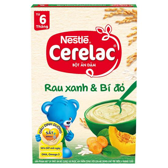 Sử dụng loại bột từ rau xanh và bí đỏ giúp bé có hệ tiêu hóa tốt