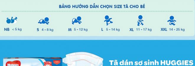 Chọn size tã cho bé phù hợp với cân nặng