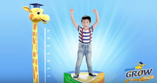 Sữa Abbott Grow giúp trẻ phát triển chiều cao