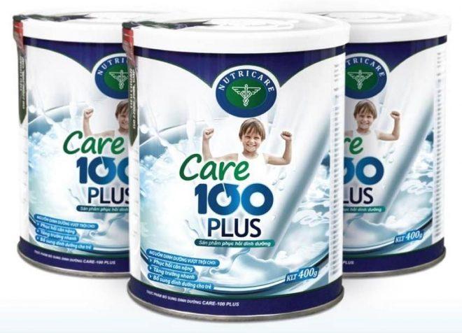 Sữa Bột Nutricare Care 100 Plus cho trẻ biếng ăn chậm lớn