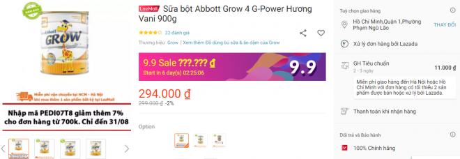 phan hoi kh khi mua abbott grow 4 trenlazada