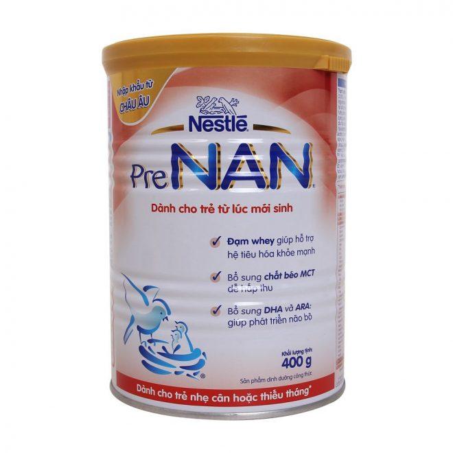 Sữa Pre Nan nhập khẩu từ Hà Lan, khối lượng 400g