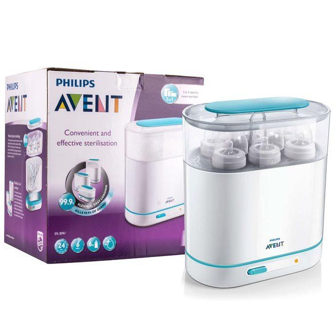 Máy tiệt trùng bình sữa Avent 3 trong 1