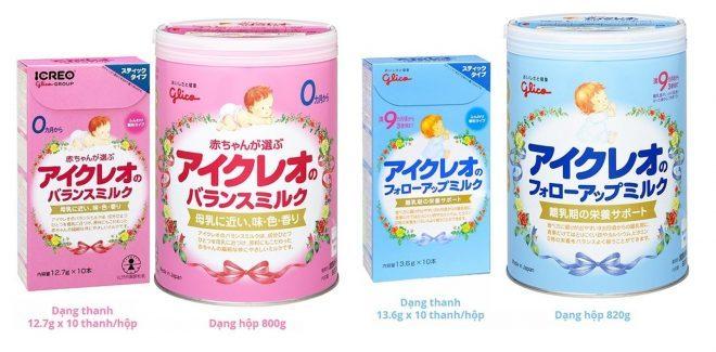 Sữa Glico Nhật