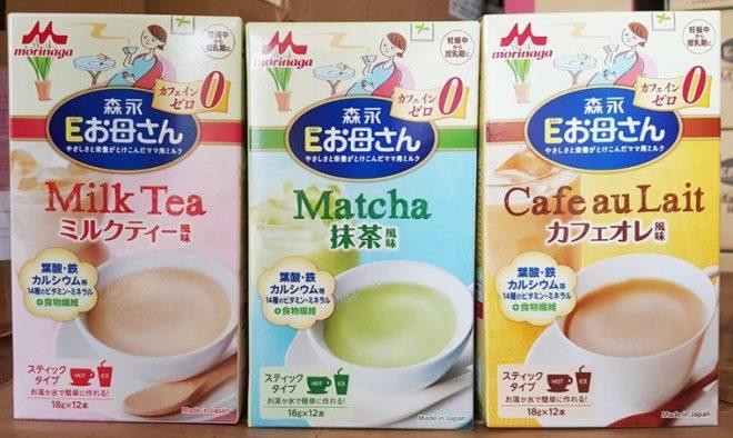 Sữa Morinaga bầu bao gồm 3 hương vị chính