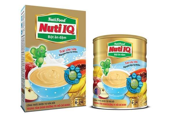 Bột ăn dặm Nutifood Nuti IQ cung cấp dinh dưỡng cho trí não và cơ thể bé phát triển