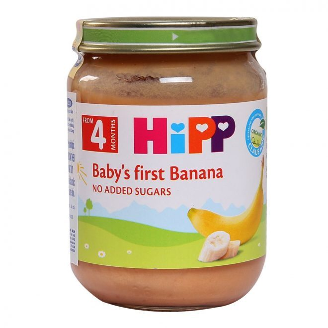 Dinh dưỡng đóng lọ chuối ăn dặm khởi đầu Hipp