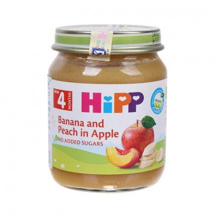 Dinh dưỡng đóng lọ chuối, đào, táo