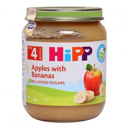 Dinh dưỡng đóng lọ chuối, táo