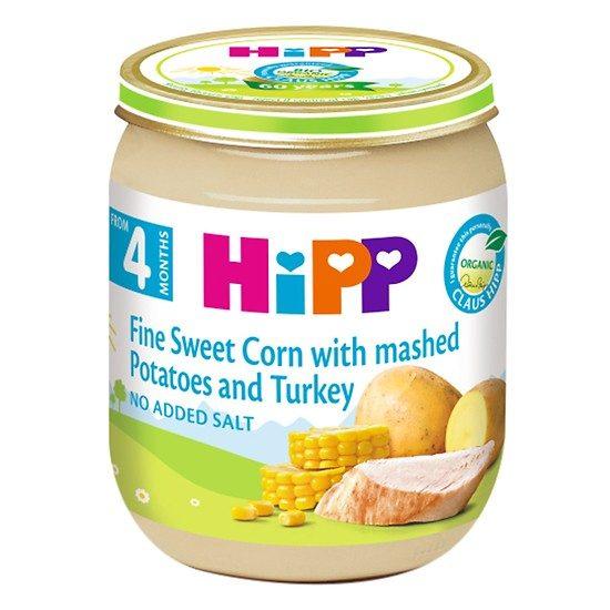 Dinh dưỡng đóng lọ ngô bao tử, khoai tây, gà tây