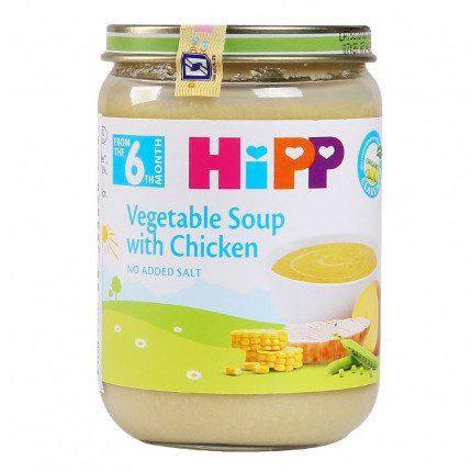 Dinh dưỡng đóng lọ súp thịt gà, rau tổng hợp