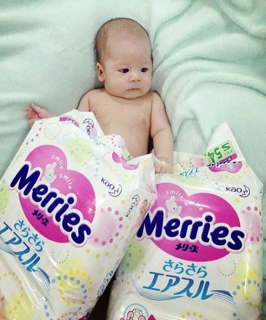 Miếng lót sơ sinh Merries