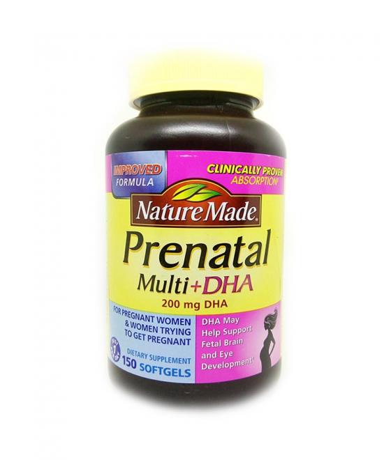 Viên Uống Dinh Dưỡng Nature Made Prenatal DHA cho bà bầu