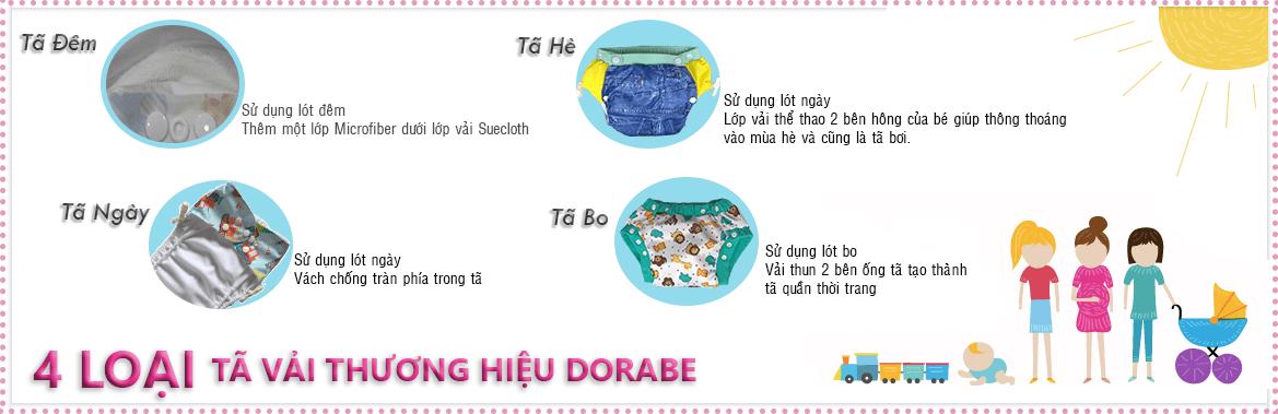 Phân loại tã vải Dorabe