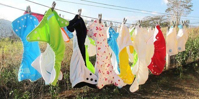 Phơi tã vải ở nơi khô ráo, nắng nhiều