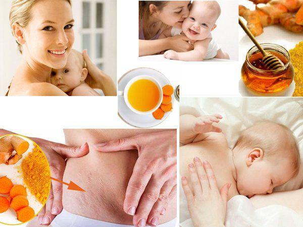 Áp dụng đúng cách uống tinh bột nghệ với mật ong sau sinh sẽ giúp chị em phục hồi sức khỏe và sắc đẹp