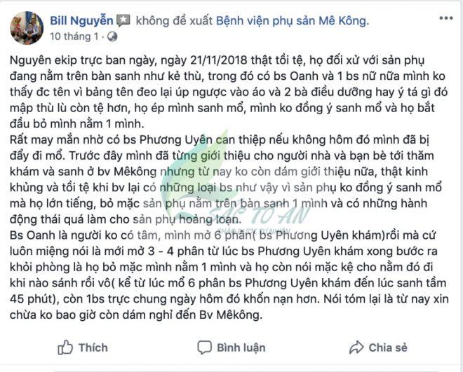 Review Benh Vien Phu San Mekong