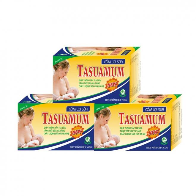Cốm lợi sữa Tasuamum cho mẹ có tác dụng tăng tiết sữa và tăng chất lượng sữa của bà mẹ