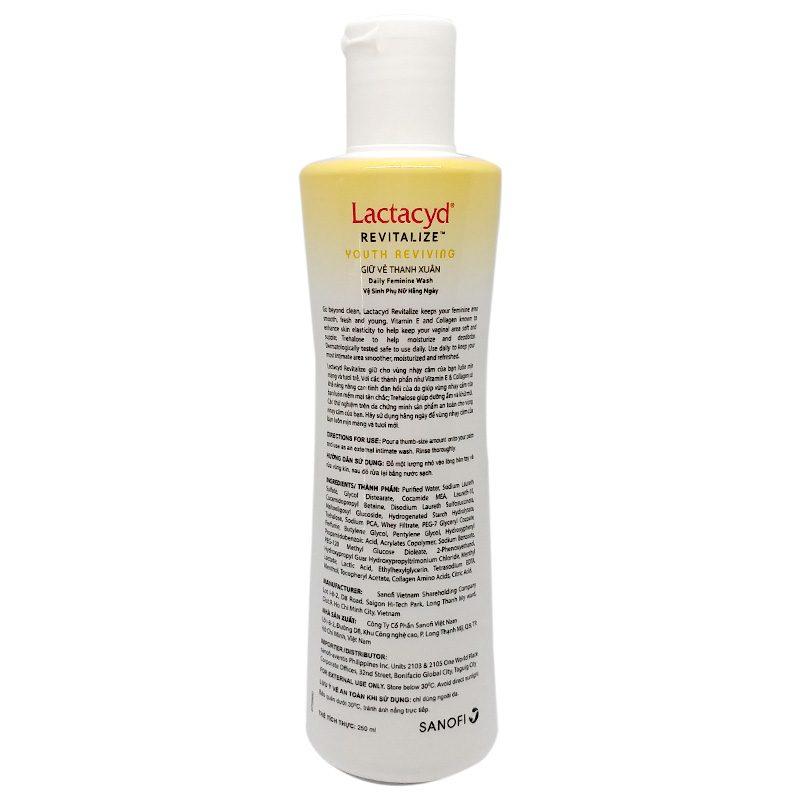 Thông tin sản phẩm dung dịch vệ sinh Lactacyd
