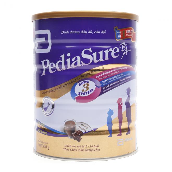 Sản phẩm Sữa Pediasure BA vị socola