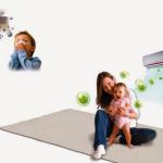 Cách dùng điều hòa cho trẻ sơ sinh không bị ốm vào mùa nóng.