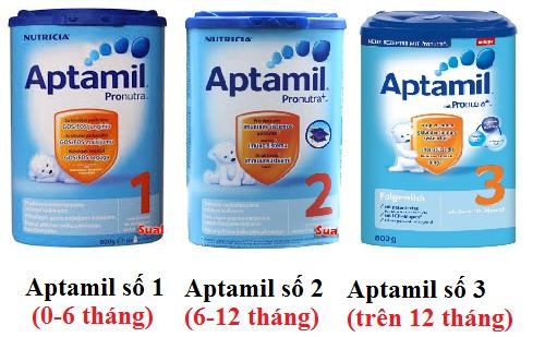 Sữa Aptamil Đức số 1 3 giúp bé phát triển toàn diện