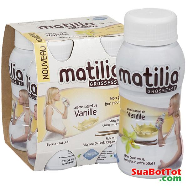 Sữa bầu Matilia được nhập khẩu từ Pháp