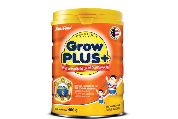 Sua Growplus cam tang can cho be