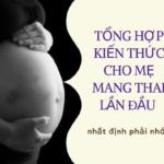 kien thuc cho me mang thai lan dau