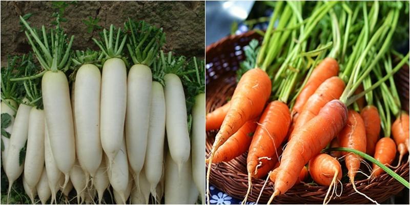 Cà rốt và củ cải thuộc nhóm thực phẩm dương
